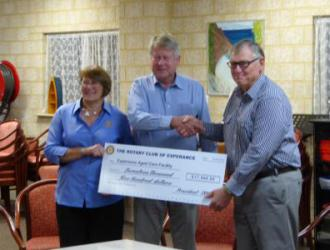 Presentation of Cheque to Esperance Nursing Home